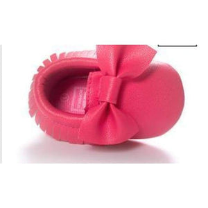 Soft Bottom Fashion Tassels Baby Moccasin - Hot Pink / 1 - Baby Clothing