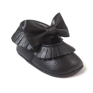 Soft Bottom Fashion Tassels Baby Moccasin - New Black / 1 - Baby Clothing