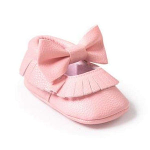 Soft Bottom Fashion Tassels Baby Moccasin - New Pink / 1 - Baby Clothing