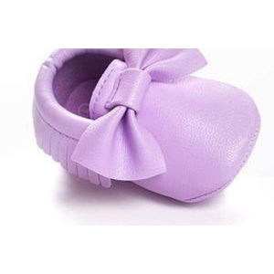 Soft Bottom Fashion Tassels Baby Moccasin - Purple / 1 - Baby Clothing