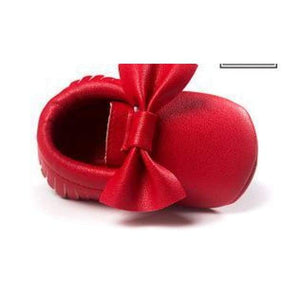 Soft Bottom Fashion Tassels Baby Moccasin - Red / 1 - Baby Clothing