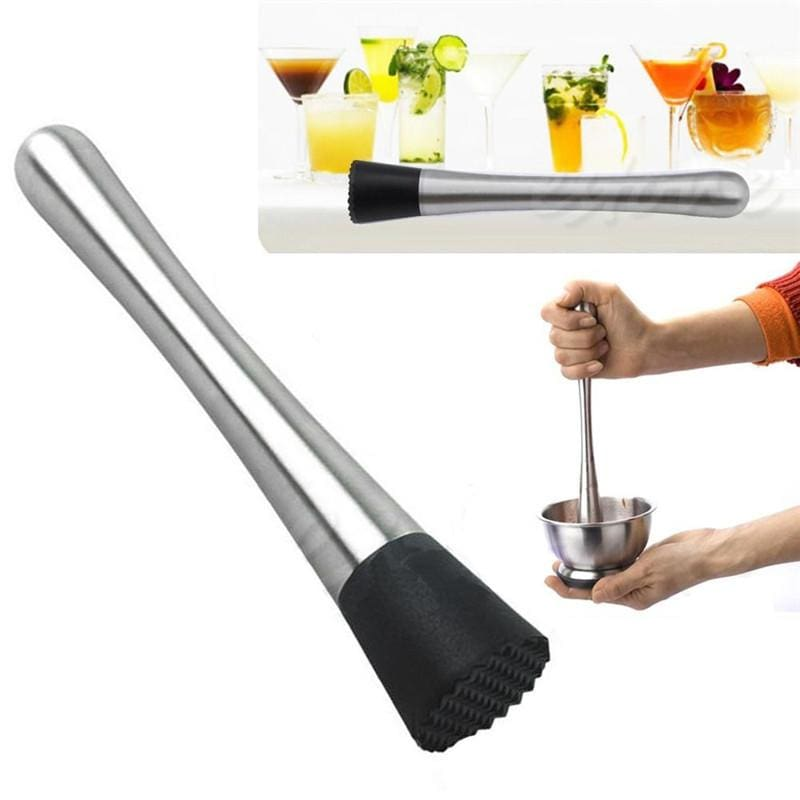 Stainless Steel Cocktail Muddler Bar Tool - Kitchen Gadgets