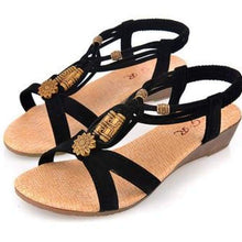 Load image into Gallery viewer, Summer Fashion Sandals - Black / 6 - Sandals