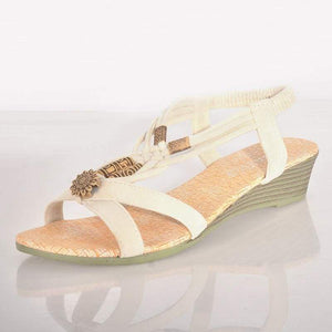 Summer Fashion Sandals - White / 6 - Sandals