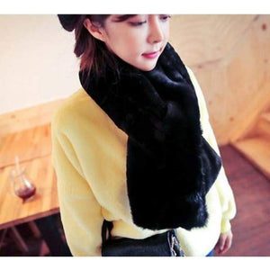Thick Warm Winter Shawl - Black / One Size - Shawls