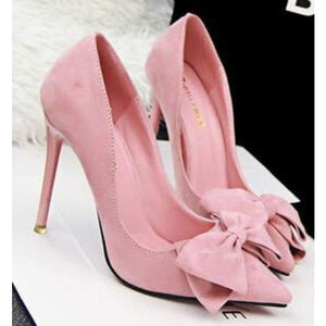 Thin Heel High Heel Shoes - Pink / 4 - Shoes