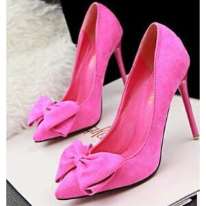 Thin Heel High Heel Shoes - Rose Red / 4 - Shoes