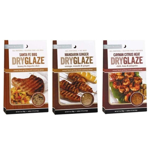 Urban Accents All Natural Grilling And Roasting DryGlaze 3 Flavor Variety Bundle - Spices Seasonings & Extracts