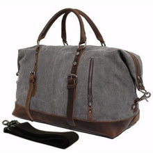 Load image into Gallery viewer, Vintage Military Leather Canvas Duffle Bag - Travel Accessories