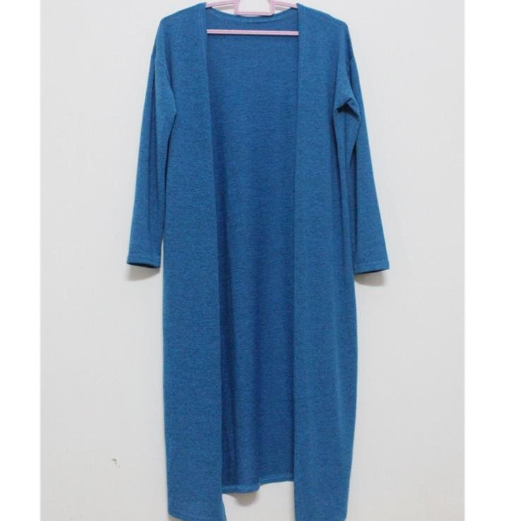 Women Long Cardigan - blue / One Size - Cardigan