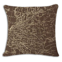 Load image into Gallery viewer, Worldmap Pattern Cotton Linen Pillow Covers - 1 - Pillowcase