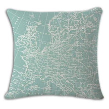 Load image into Gallery viewer, Worldmap Pattern Cotton Linen Pillow Covers - 2 - Pillowcase