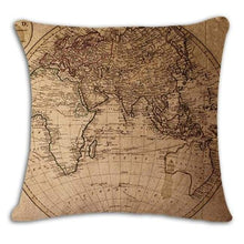 Load image into Gallery viewer, Worldmap Pattern Cotton Linen Pillow Covers - 5 - Pillowcase
