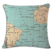 Load image into Gallery viewer, Worldmap Pattern Cotton Linen Pillow Covers - 8 - Pillowcase