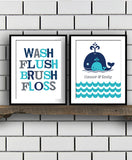 Kids Bathroom Print Set