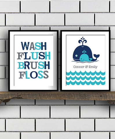 Kids Bathroom Print Set - Hypolita Co.