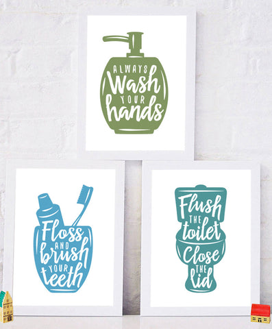 Bathroom Print Set
