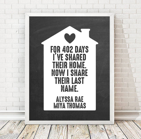 Personalized Adoption Print