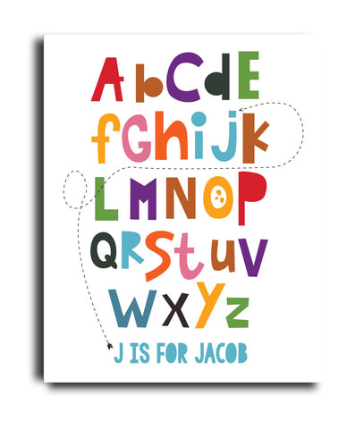 Alphabet Arrow Print - Hypolita Co.