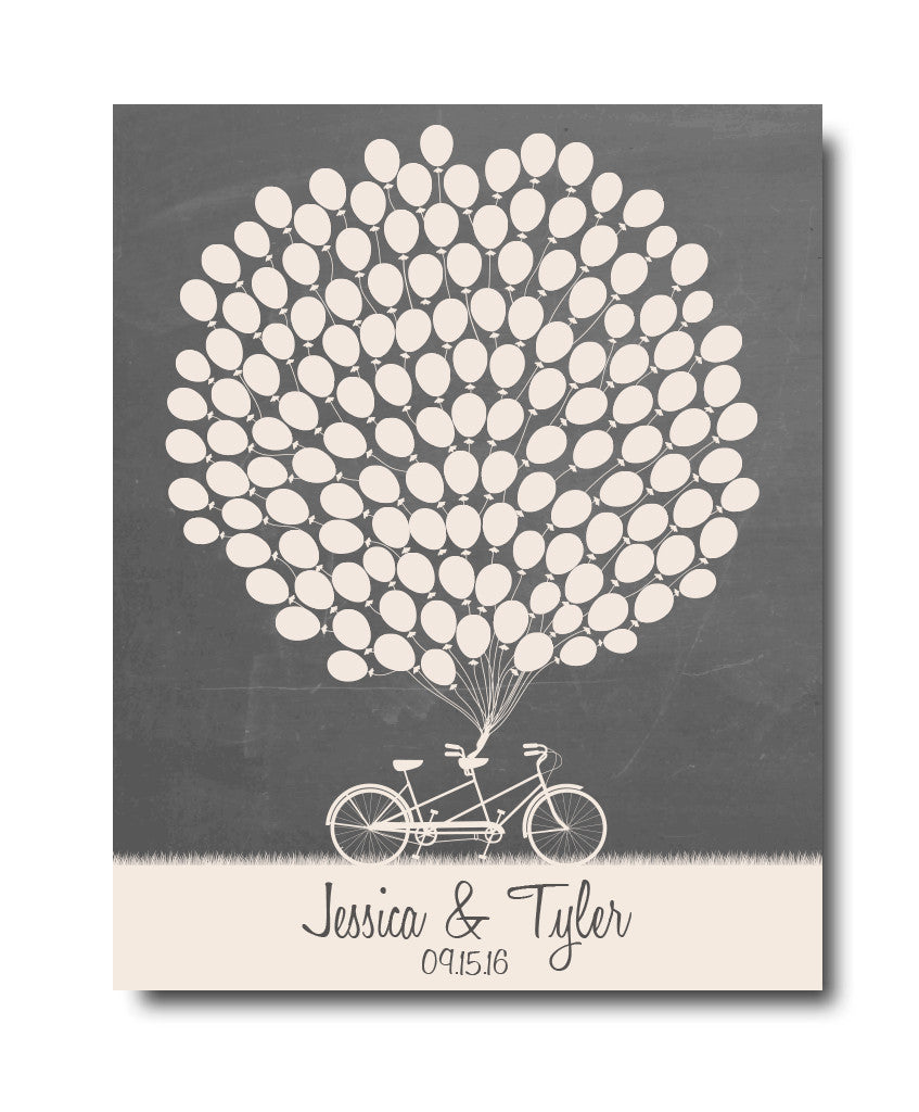 Balloon Wedding Guestbook - Hypolita Co.