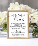 Open Bar Wedding Print - Hypolita Co.