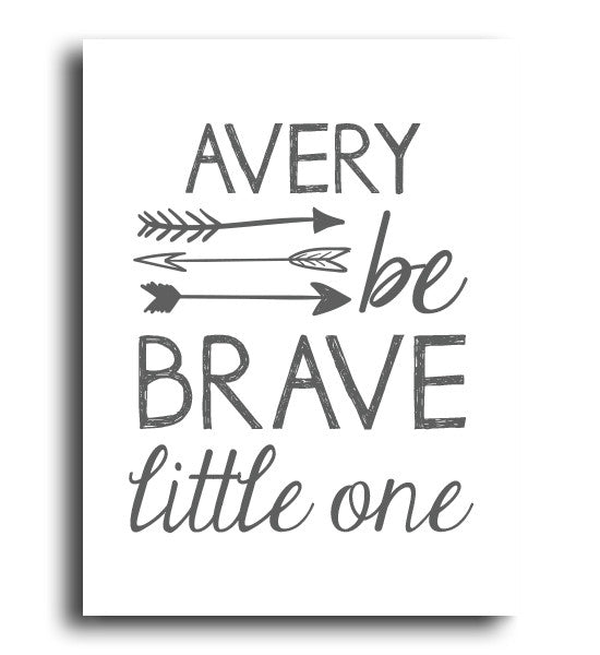 Be Brave Little One Print - Hypolita Co.