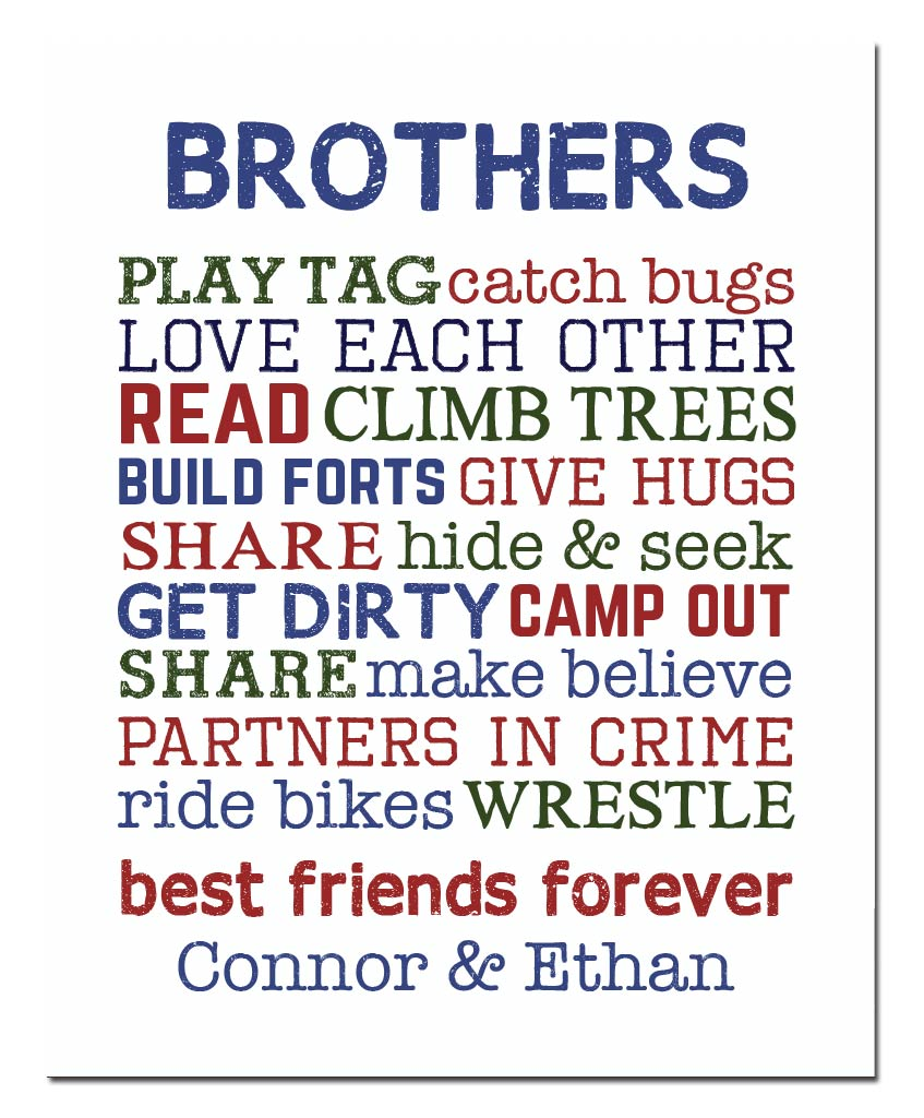 Brothers Are Best Friends Print - Hypolita Co.