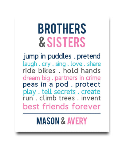 Brothers & Sister Print