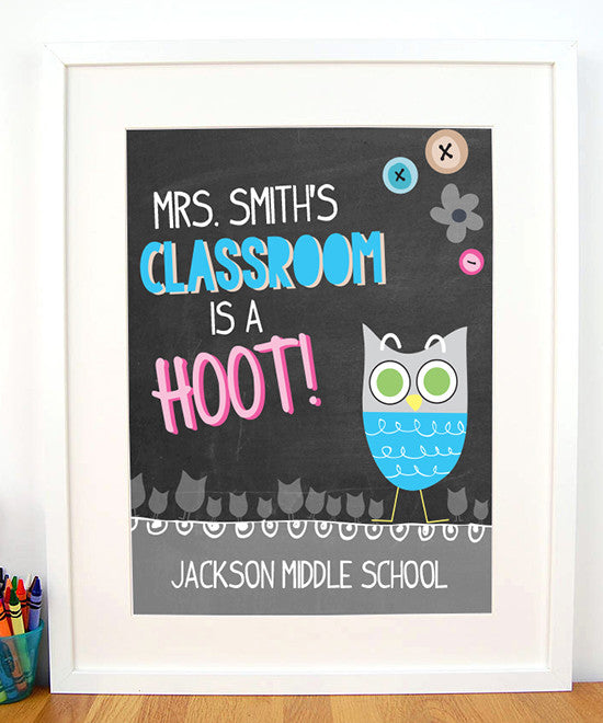Hoot Teacher Print - Hypolita Co.