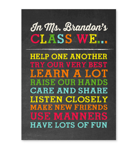 Classroom Rules Print - Hypolita Co.