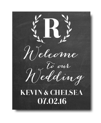 Wedding Welcome Print - Hypolita Co.