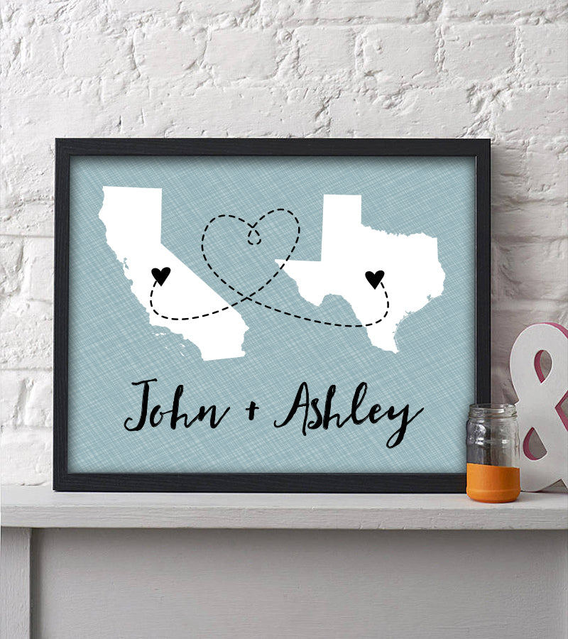 Two State Couple Print - Hypolita Co.