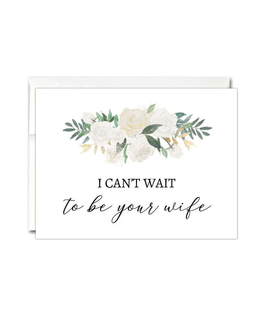Can't Wait to Be Your Wife Card - Hypolita Co.