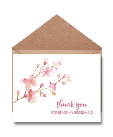 Bridesmaid Thank You Card - Hypolita Co.