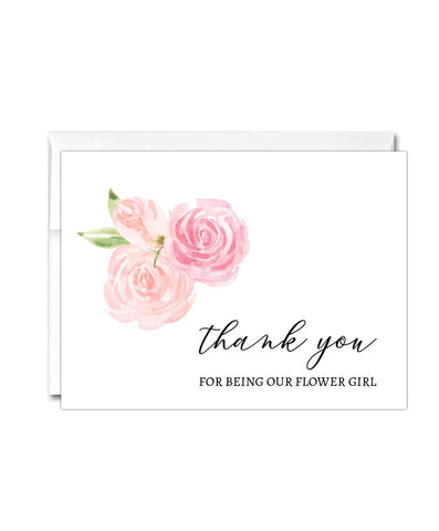 Flower Girl Thank You Card - Hypolita Co.