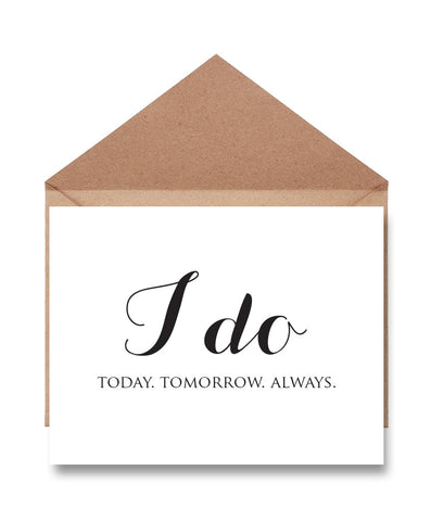I Do Wedding Day Card - Hypolita Co.