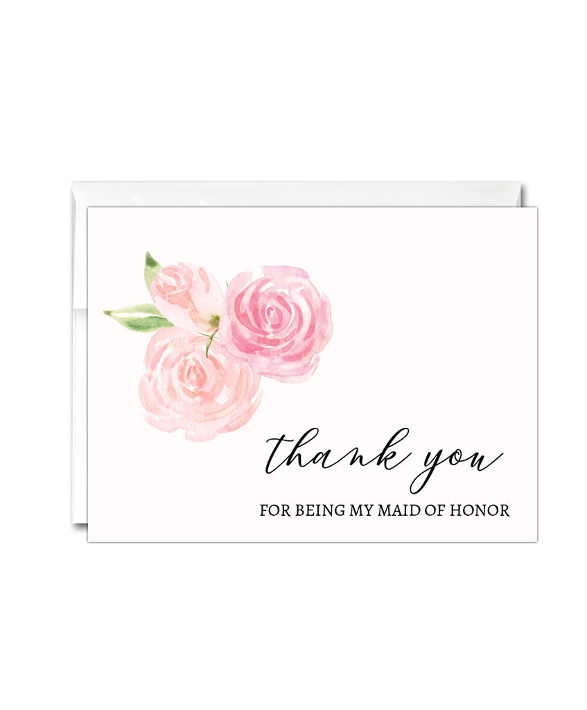 Maid of Honor Thank You Card - Hypolita Co.