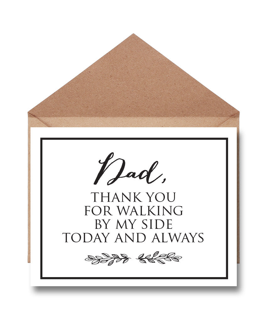 Father Wedding Thank You Card