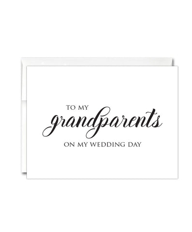 Grandparents Wedding Thank You Card - Hypolita Co.