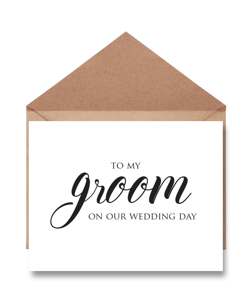 Groom Wedding Day Card - Hypolita Co.