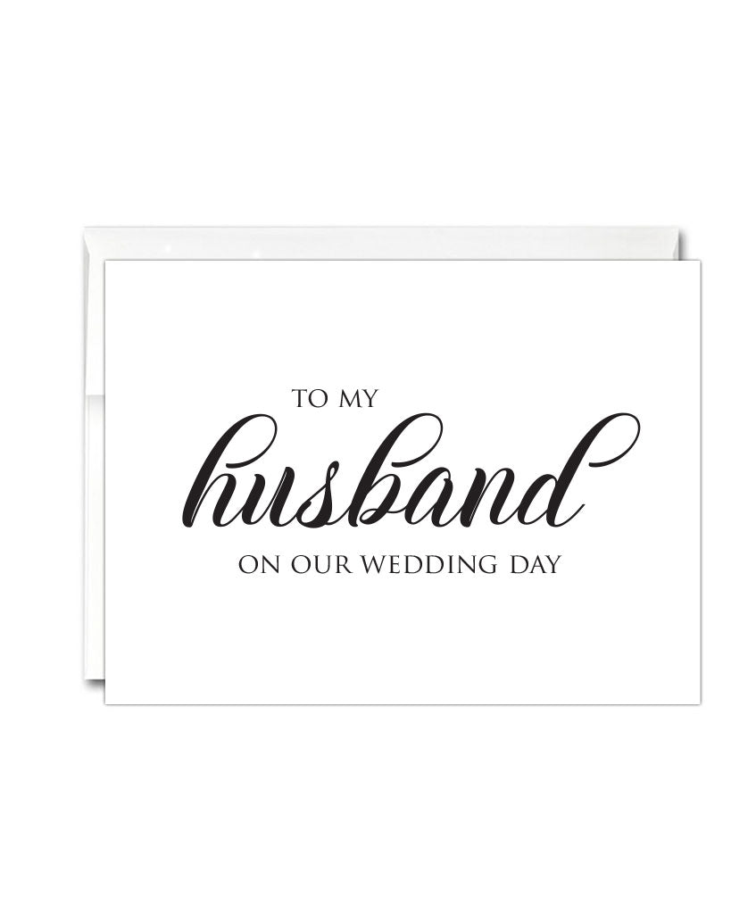Husband Wedding Day Card - Hypolita Co.