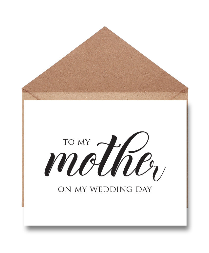 Mother Wedding Thank You Card