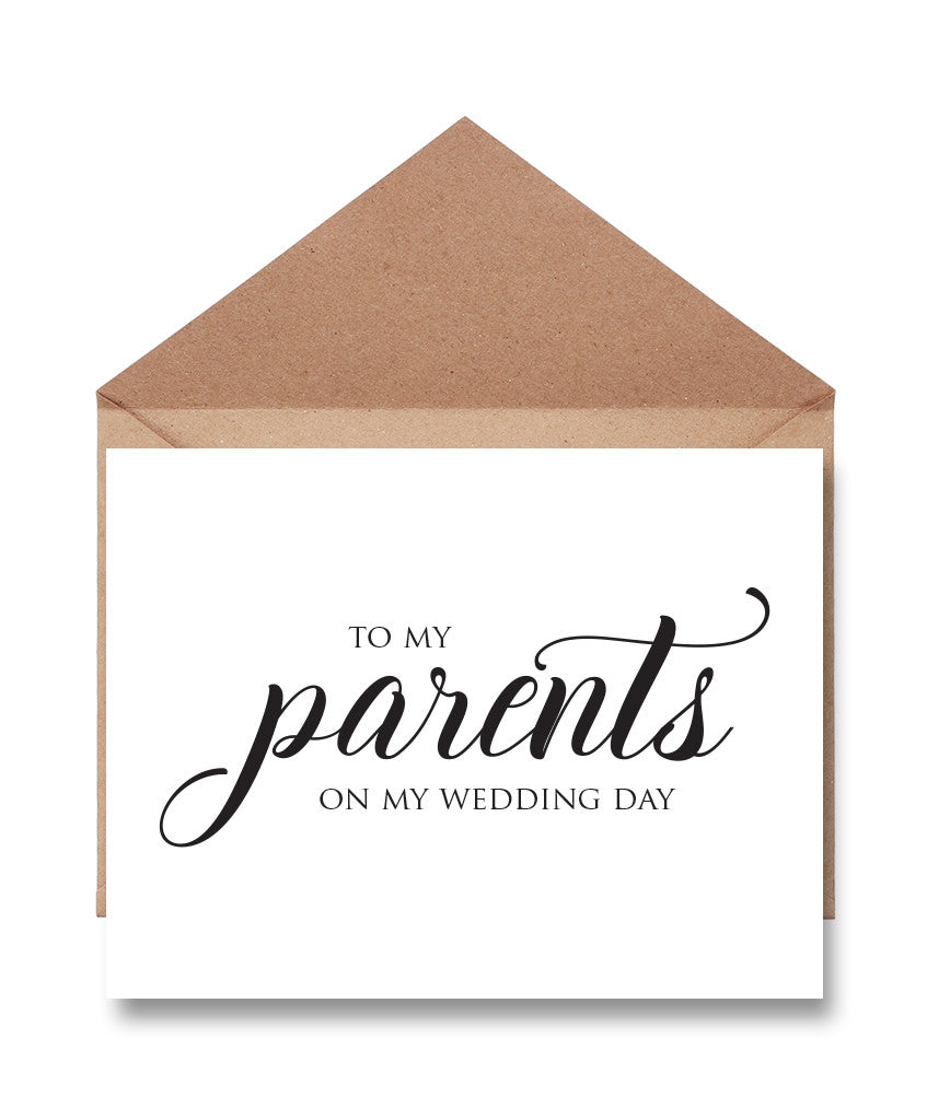 Parents Wedding Thank You Card