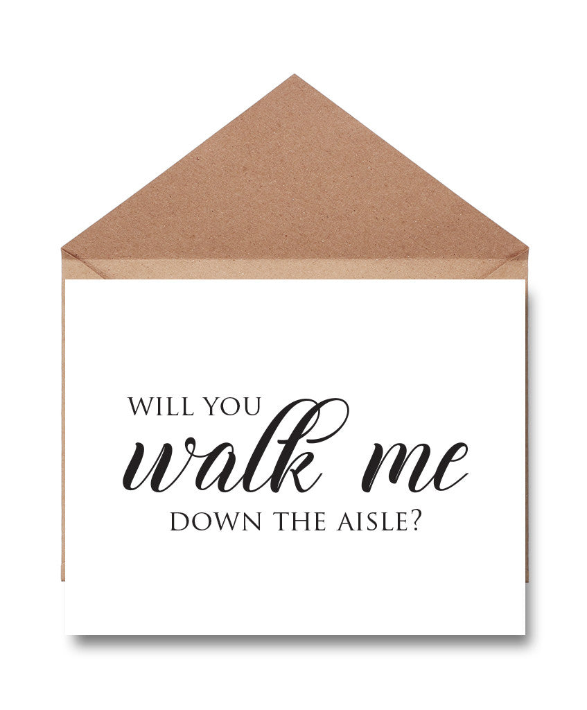 Father Walk Me Down the Aisle Card