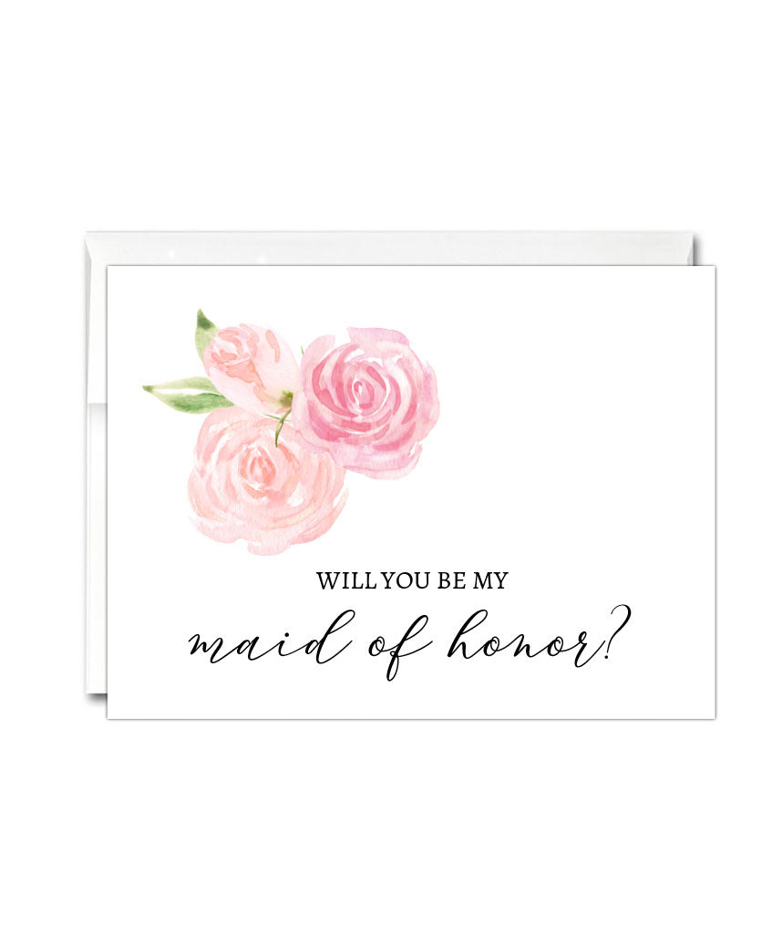 Will You Be My Maid of Honor Card - Hypolita Co.