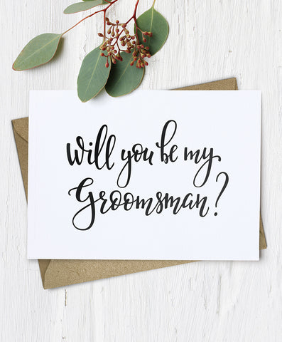Will You Be My Groomsman Card - Hypolita Co.