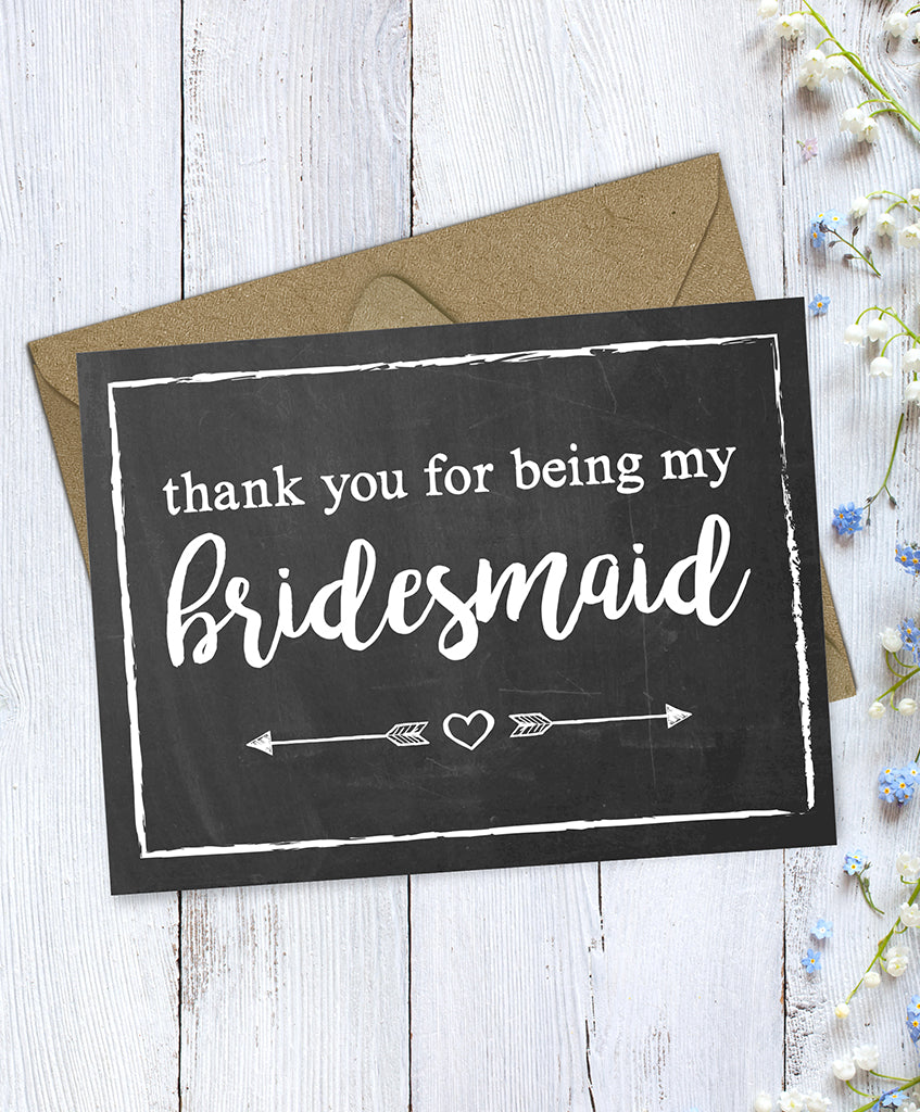 Bridesmaid Card - Hypolita Co.