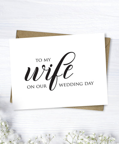 Bride Wedding Day Card - Hypolita Co.