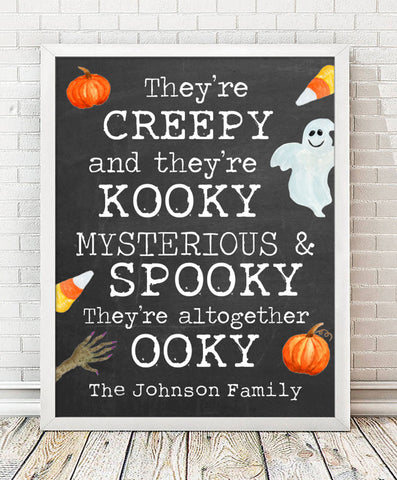 Creepy & Kooky Halloween Print - Hypolita Co.