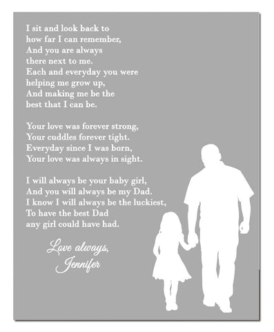 Daddy Daughter Poem Print - Hypolita Co.